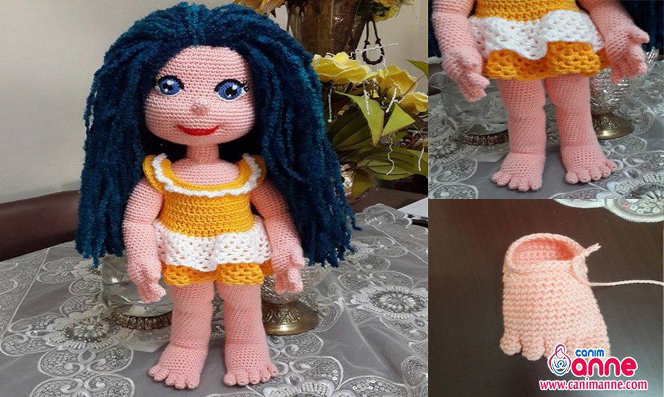 Amigurumi Bebek Tarifleri : Amigurumi ahu bebek Örülüşü canım anne