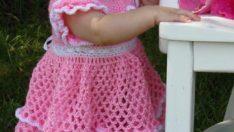 Kız Bebekler İçin Bol Model Örgü Modelleri