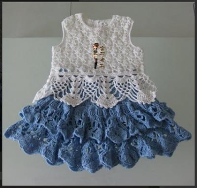Kız Bebek Ve Çocuklar İçin Örgü Elbise Modeli