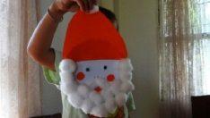 Plastik veya Kağıt Tabaktan Noel Baba Yapımı
