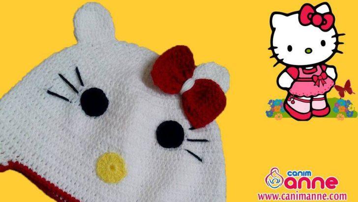 Hello Kitty Şapka Kulaklarının Yapılışı