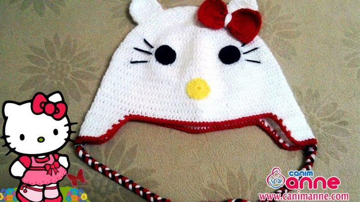 Hello Kitty Şapka Örülüşü