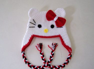 Hello Kitty Şapka Kenar Bağlama Örgü Yapılışı