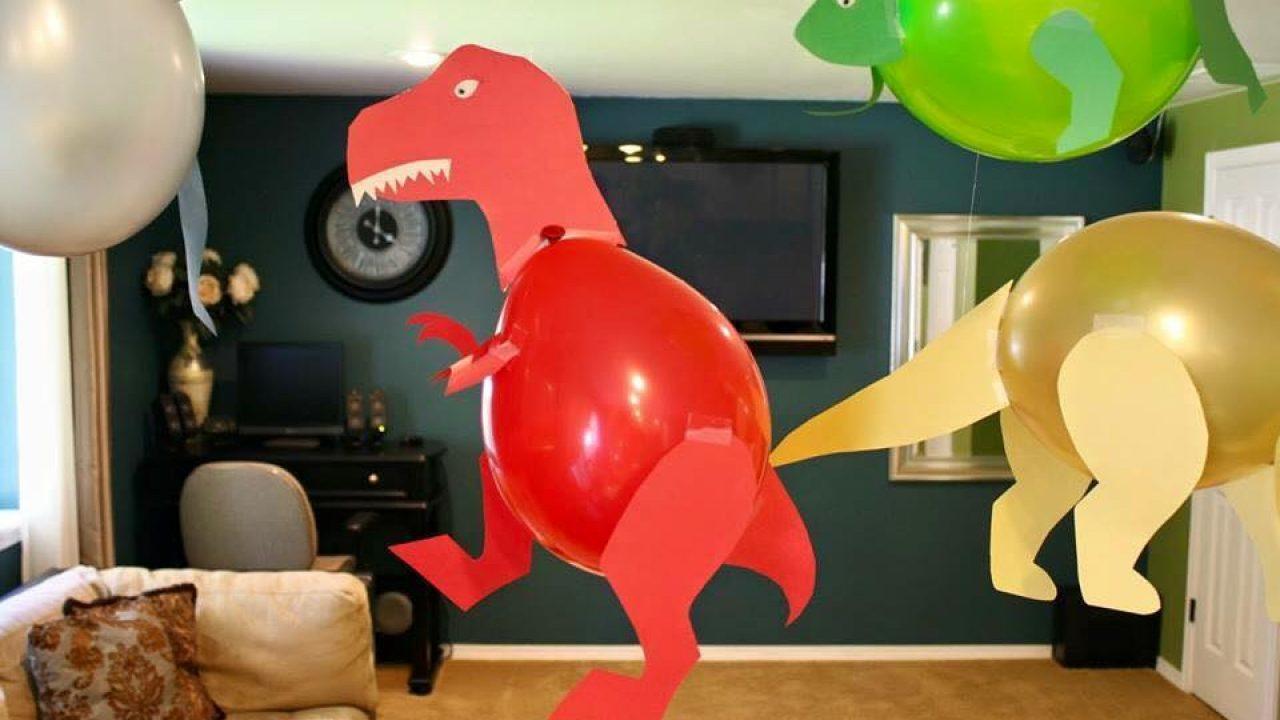 Balon ile Dinazor Yapılışı – Süsleme Fikirleri – DIY- Kendin Yap