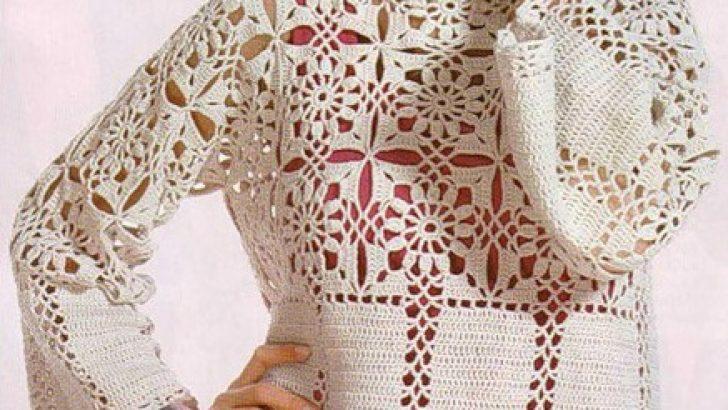 Örgü Bayan Bluzu Uzun Kol Model Yapılışı ve Şeması