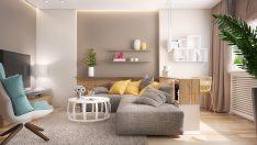 Pastel Tonlarda Oturma Odaları