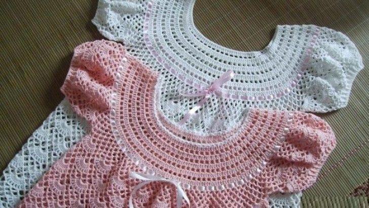 Tığ İşi Bebek Elbise Modeli