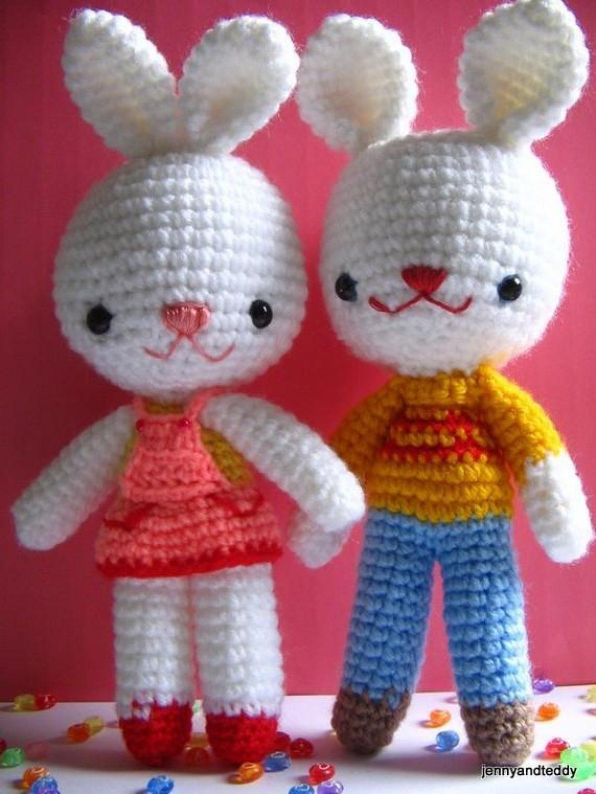 Amigurumi Örgü Kız Tavşan Yapımı / Kulak ve Birleştirme Yapılışı 3 ... | 1597x1200