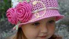 Değişik El Örgüsü Bebek Şapkaları