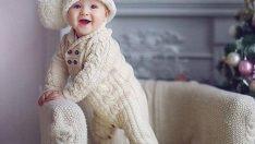 Değişik El Örgüsü Bebek Tulumları
