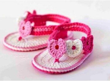 El Örgüsü Bebek Sandalet Modelleri