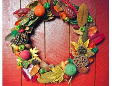 Kuru Çiçeklerden Kapı Süsü Yapımı