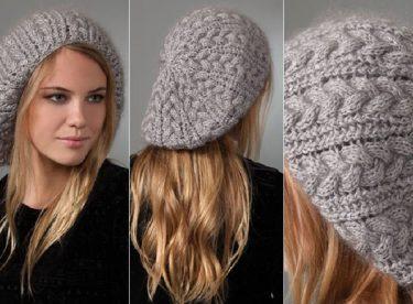2017 Örgü Bayan Şapkası Modelleri