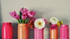 Cam Kavanozlardan Vazo Yapımı