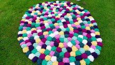 Tığ İşi Çiçek Motifli Paspas Yapımı