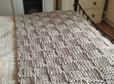 El Örgüsü Çizgili Battaniye Modelleri