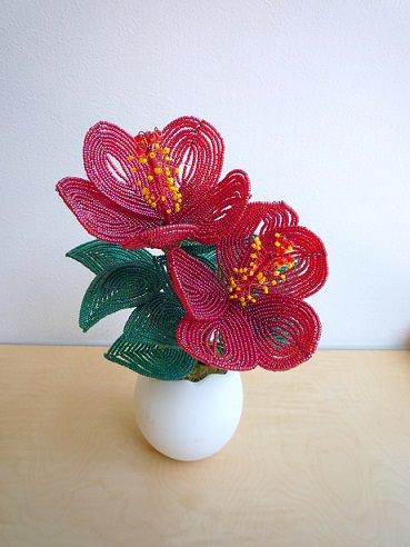 Boncuktan çiçek Yapımı Canım Anne