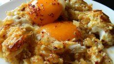 Pratik yumurtalı patates yemeği tarifi