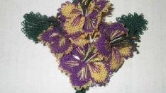 Menekşe Çiçeği İğne Oyası Modeli