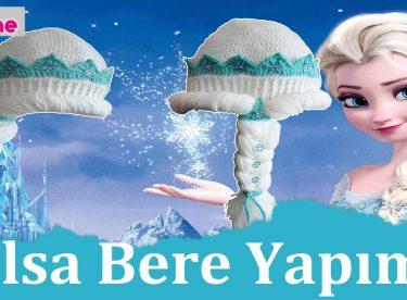 Örgü Elsa Bere Yapımı – Frozen Elsa Disney Bere