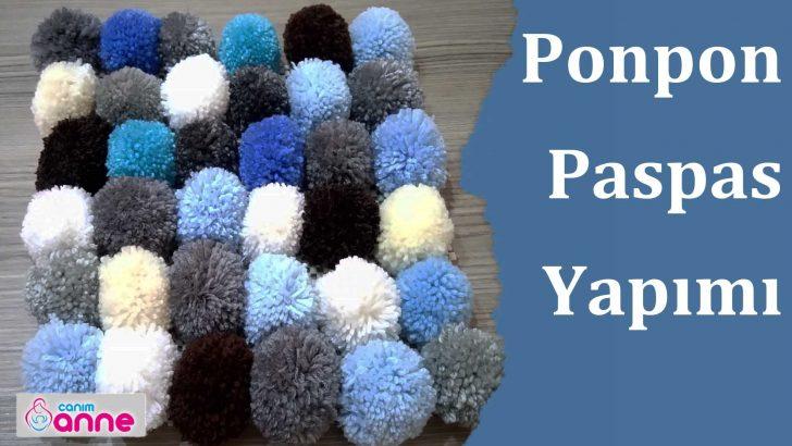 Ponpon Paspas Yapımı, Kaydırmaz Üzerine Ponpon Paspas Nasıl Yapılır ?