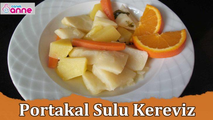 Portakal Sulu Kereviz Tarifi