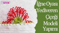 İğne Oyası Yediveren Çiçeği Modeli – Havlu Kenarı Yapımı -15