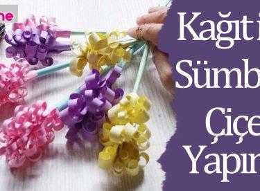Kağıt ile Sümbül Çiçeği Yapımı, Kendin Yap, DIY