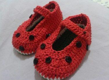 El Örgüsü Tığ İşi Bebek Patik Modelleri