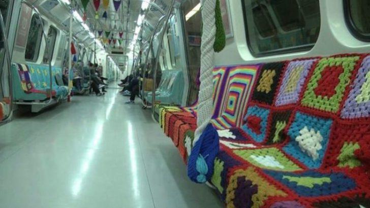 Metro Örgü Motifleri ile Süslendi