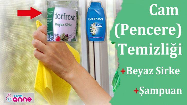 Beyaz Sirke ve Şampuan ile Pencere Temizliği-Pratik Yöntem
