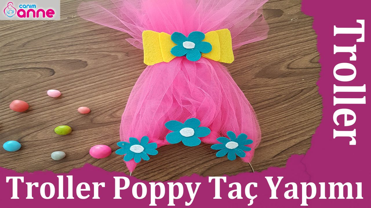 Troller Poppy Taç Yapımı – Kendin Yap – DIY