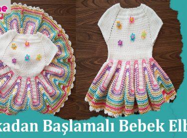 Yakadan Başlamalı Bebek Elbisesi Yapımı Videolu Anlatım