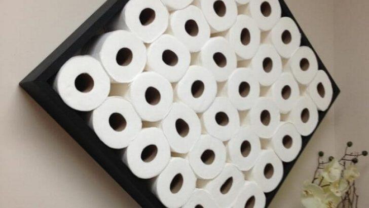 Tuvalet Kağıtlarını Depolamanız İçin 5 Değişik Fikir