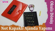 Not Kapaklı Ajanda Yapımı – Okula Dönüş – Kendin Yap – DIY