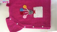 Bebek yeleği yapımı – Yandan düğmeli model – Tunus işi