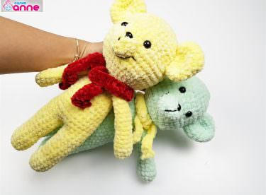 Amigurumi Pofuduk Ayıcık Yapımı – Crochet Bear Video Tutorial
