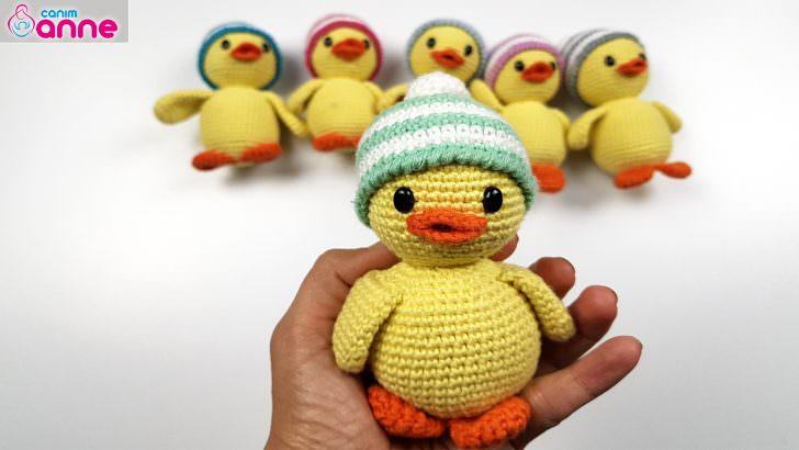 Örgü oyuncak ördek yapılışı, Amigurumi free pattern duck