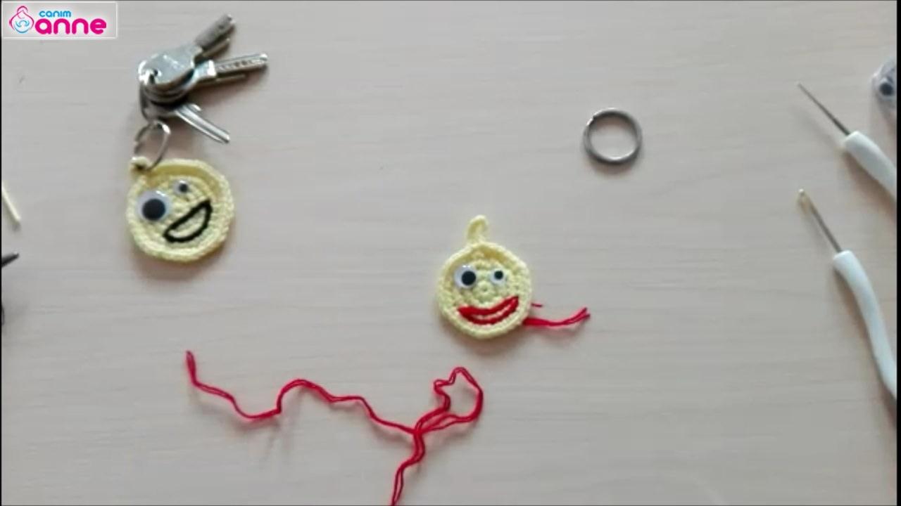 Örgü Emoji Yapımı | Knit Emoji Making | Gülnur ÖZEL #anahtarlık ... | 720x1280