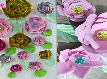 Kağıttan Büyük Çiçekler Yapımı – Kendin Yap – DIY