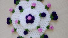 3 Kat Şıkır Şıkır Çiçekli Lif Yapımı