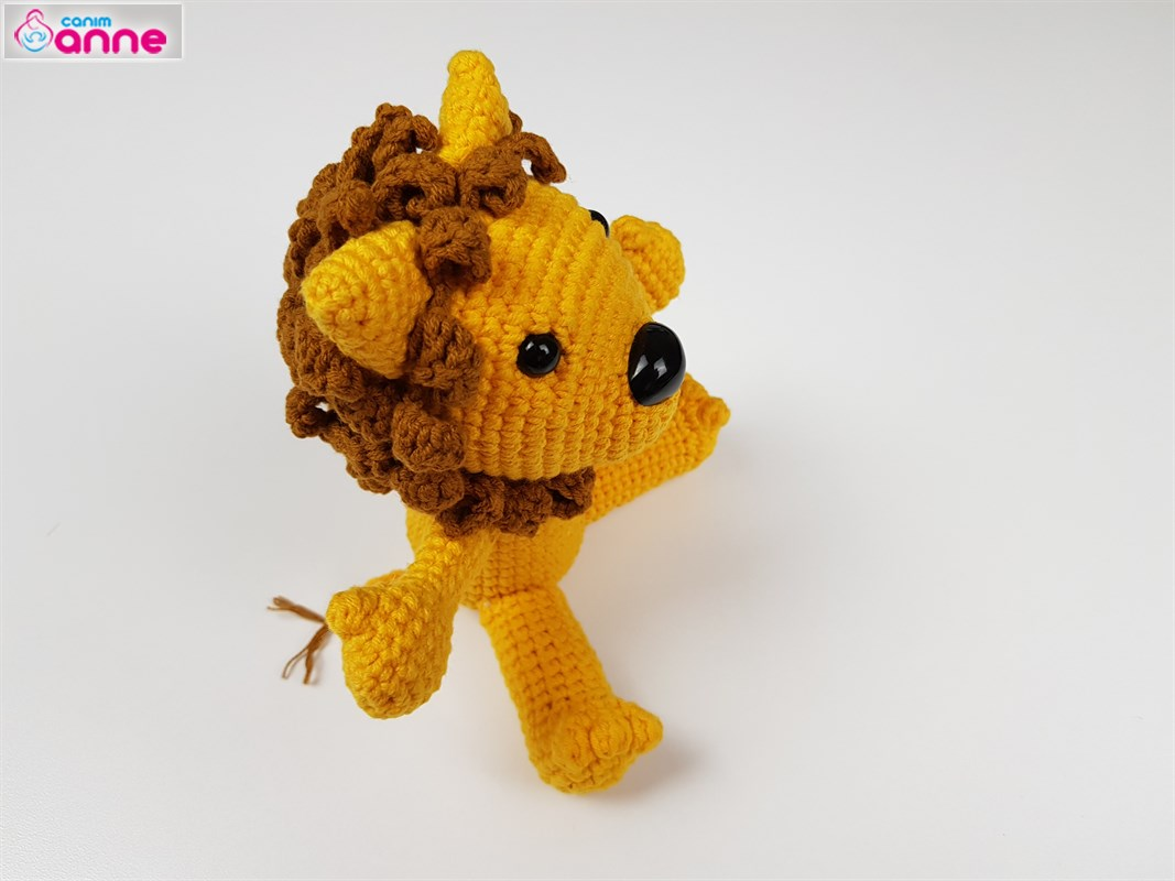 Amigumi Aslan yelesi Yapımı 2/2   Amigurumi Lion Crochet Tutorial - How To  Crochet A Lion - YouTube   800x1067