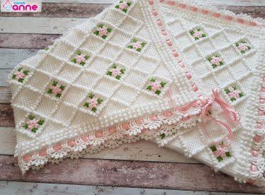Bebek Battaniyesi Yapımı – Tunus iÅŸi – Ä°stek bebek battaniyesi