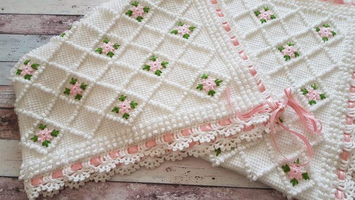 Bebek Battaniyesi Yapımı – Tunus işi – İstek bebek battaniyesi