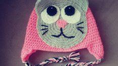 Kedi Motifli Çocuk Beresi Yapımı – Kedili Bere Yapımı