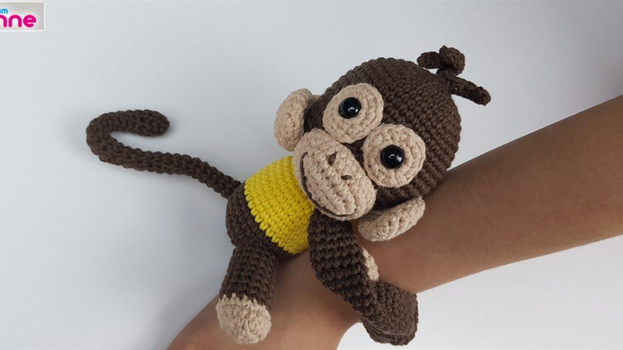 Amigurumi perde tutucu maymun ve maymun yapımı