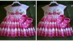 Bebek Yazlık Örgü Elbise Modelleri