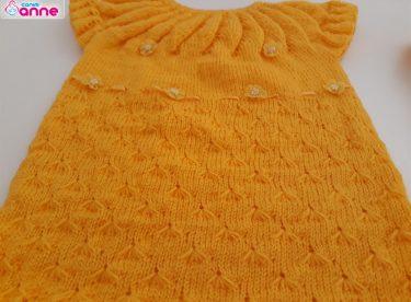 Robalı Bebek Elbise Yapımı – Örgü Çim Modeli