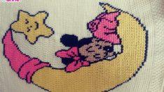 Minnie mouse bebek battaniye yapımı