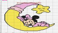 mini mouse bebek battaniye Şablonu